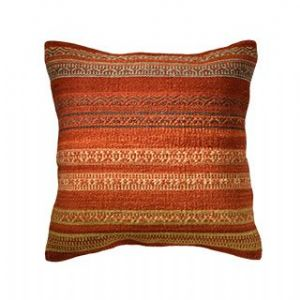 Cushion Cover~ Hippy Bohemian Indian Indus Stripe Autumn Tones Cushion Cover~ By Folio Gothic Hippy CC88